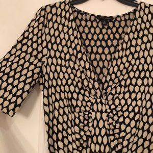 Like New Banana Republic Print Jersey Dress Sz M